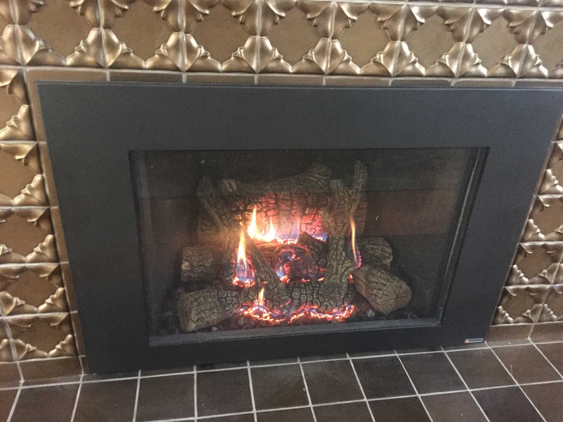 gas fire new model